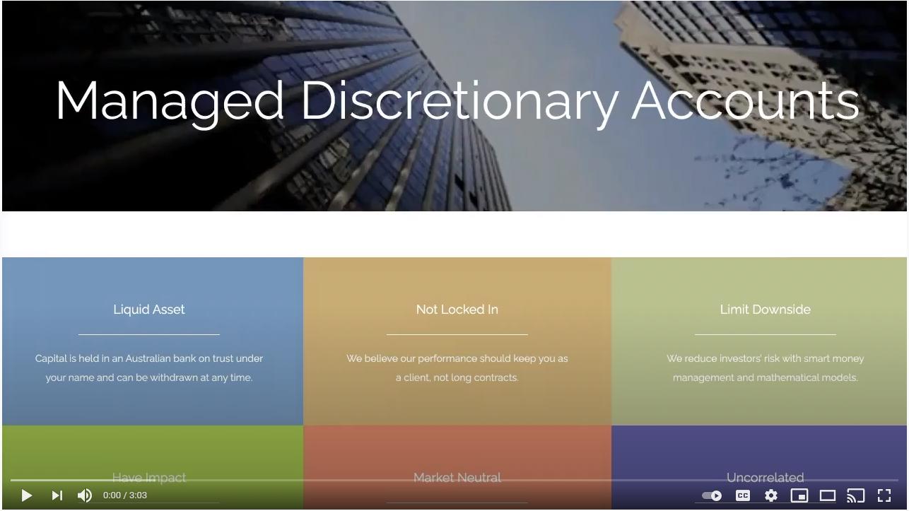 Managed Discretionary Accounts